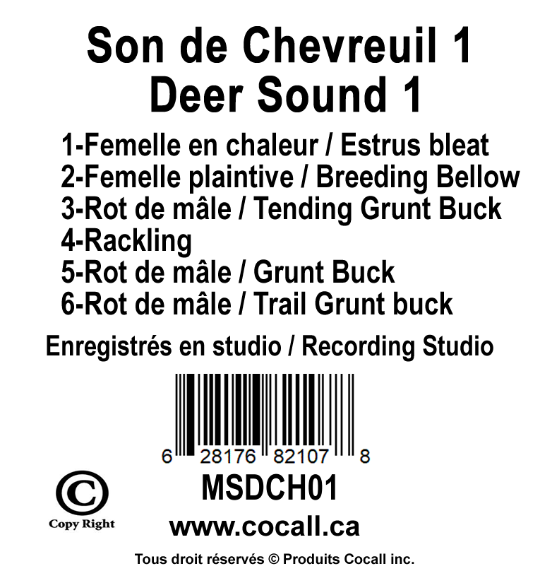 White-tailed deer card #1 - Produits CocallProduits Cocall